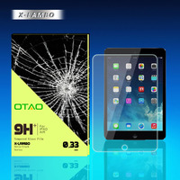 2014 new design 0.3mm 0.2mm 8H 9H tempered glass screen protector for ipad 5