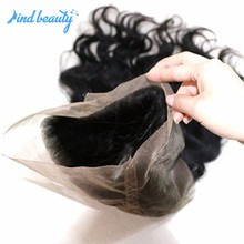 Cheap deep wave human hair 360 frontal lace closures directly from india