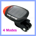 70mm Length Lightweight Black Solar Rear Bicycle Bike Tail Light