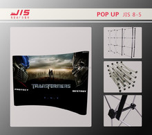 JIS8-5,2014 hot sale Straight or curved ,PVC display wall ,Spring Pop Up display rack