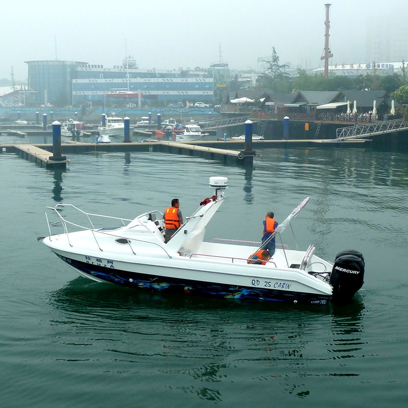 Waterwish Boat QD 25 CABIN China Fiberglass Boat