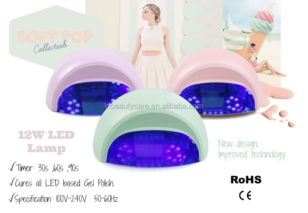 Sample is avaliable !!! only 14.66USD!!! Elegant 12 Watts Pearl LED NAIL GELS Dryer LED CURING LIGHT