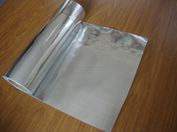 Double sided reflective aluminized polyester film / Woven Fabric Cloth Insulation Material