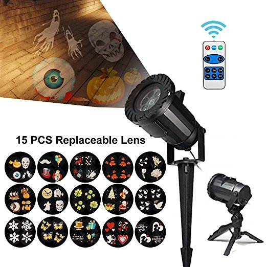 Newest 15 Patterns <strong>Laser</strong> Light IP65 Waterproof <strong>R</strong>&G Landscape Christmas Mini <strong>Laser</strong> light Projector with RF Remote Control Lights