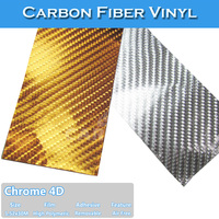 Chrome 4D Carbon Fiber pvc car chrome strips