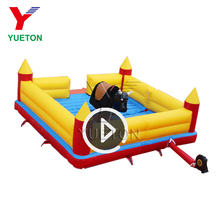 Kids Amusement Theme Park Equipment Mechanical Inflatable Rodeo Bull Riding Machine Bouncer Game Rides Price For Sale