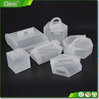 Customized Clear Plastic Bread Box With Handle
