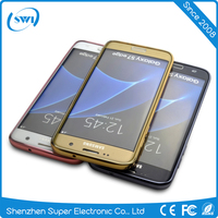 Custom Electroplating Soft Clear Transparent TPU Mobile Phone Case For Samsung Galaxy S7 edge