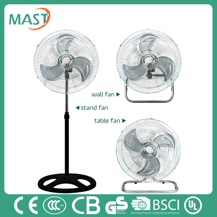 2016 18 inch air stand fan 3 in 1 with adjustable oscillating head and high speed