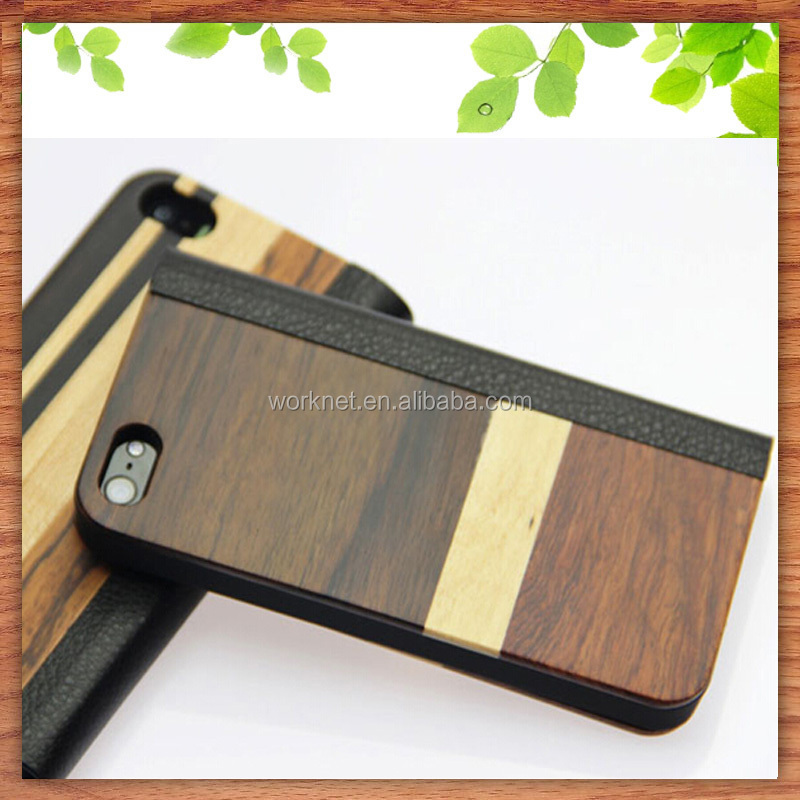 newest mobile flip cover, for iphone 6 flip case, for iphone 6 plus leather wood case