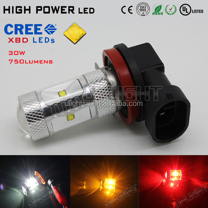 LED fog light H9 high power LED with CREES XBD chips more than 750LM 2 years warranty