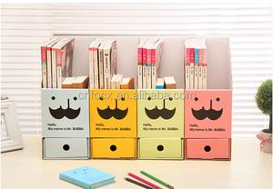 Good design paper board DIY desktop drawer storage box/desktop stationery cosmetic organizer