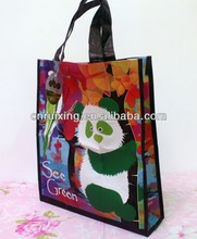 custom matt laminated recycled pet rpet tote bag