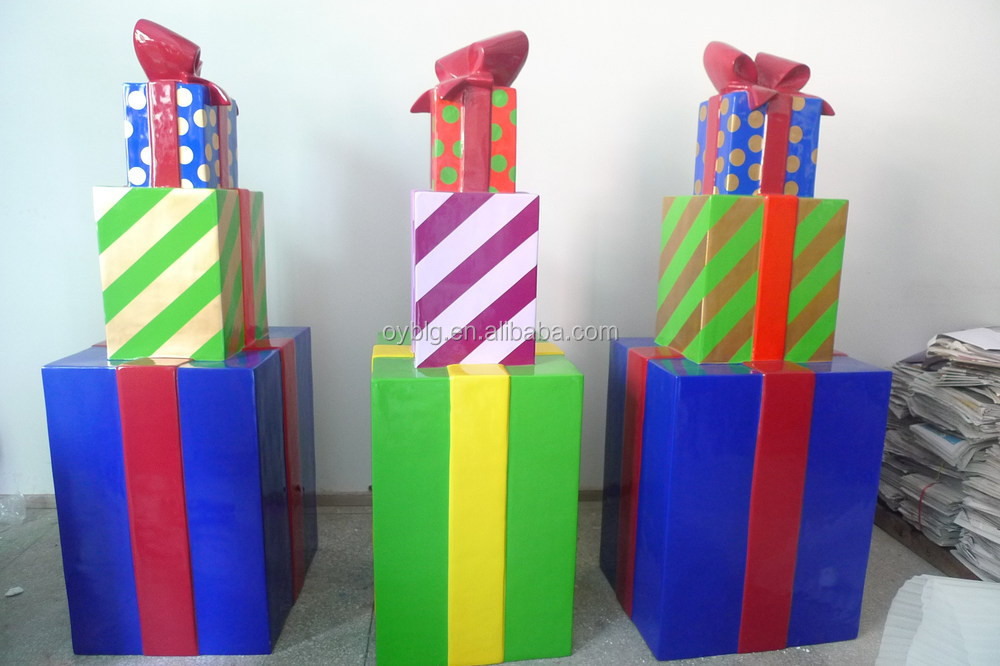 Large Outdoor Christmas Decorations Gift Boxes Gift Stack