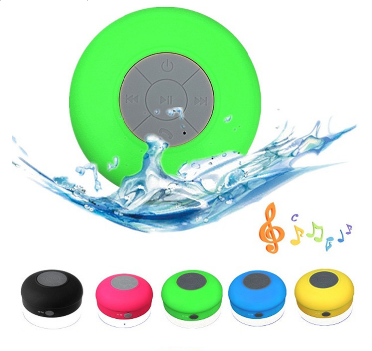 Factory BTS-06 IPX4 Subwoofer Waterproof Shower Mini Wireless <strong>Speaker</strong> with Suction
