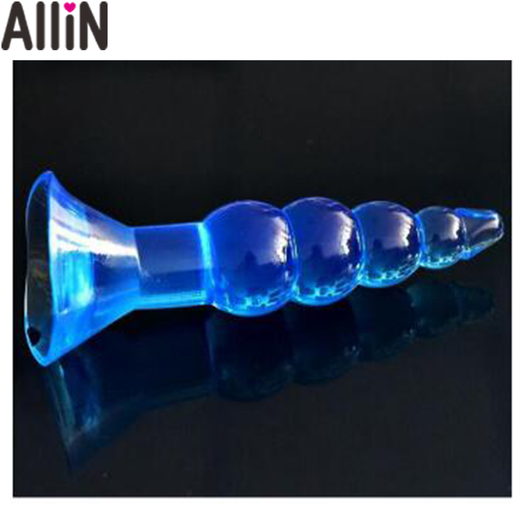 Cute fake Jelly dong penis drip tip anal plug sex toys Big suker Anal Beads plug butt plug Waterproof Anal massager