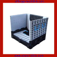 Heavy Duty Transport Stackable Mobile Plastic Folding Bulk Bin for Fruits and Vegetables