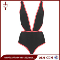 New Design Sexy Cut Out Plunge Front Swim Wear Mature Women Swimsuit