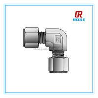 double ferrules compression fittings/stainless steel elbow union connector/union elbow for instrument tube fitting