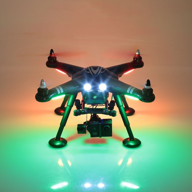 312380C-2.4GHz RC Quadcopter RTF Drone with 1080P HD Camera and 2-Axis Brushless Gimbal