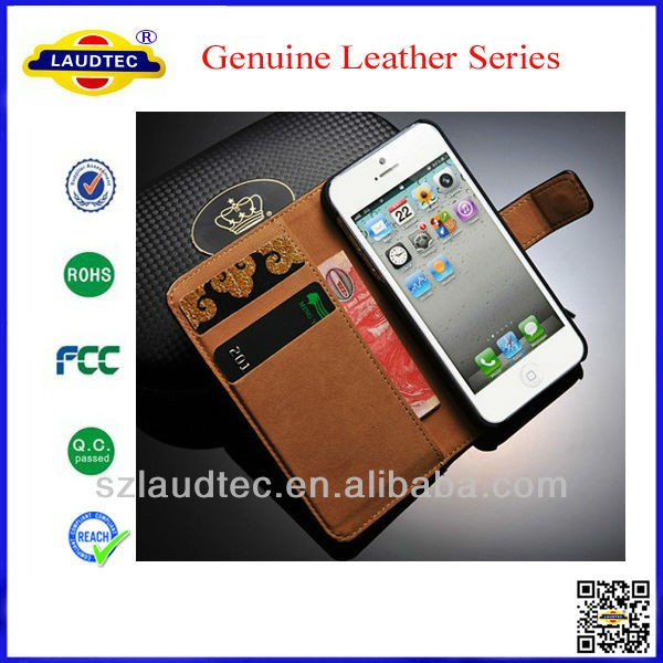 China Factory wholesale genuine leather case for iPhone 4/4s
