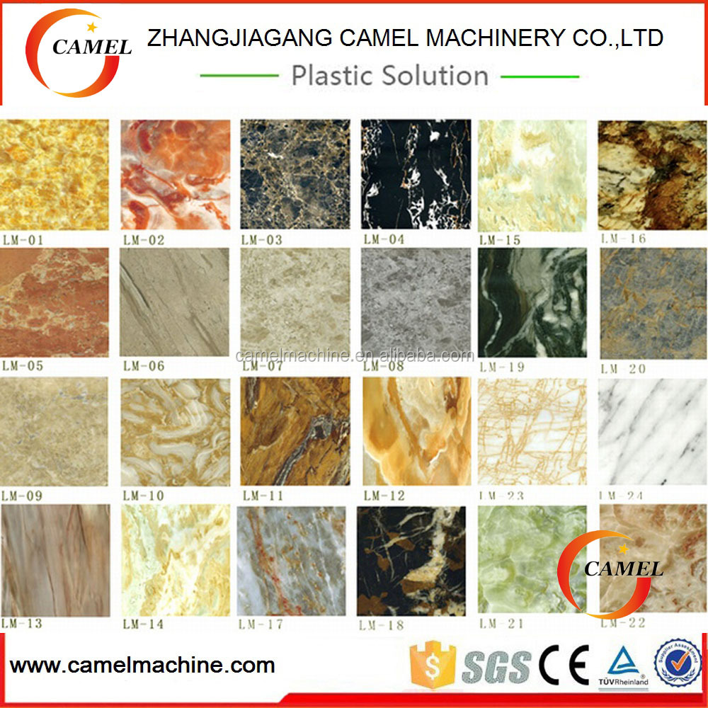 <strong>PVC</strong> imitation marble sheet/board production /extrusion line /making machine