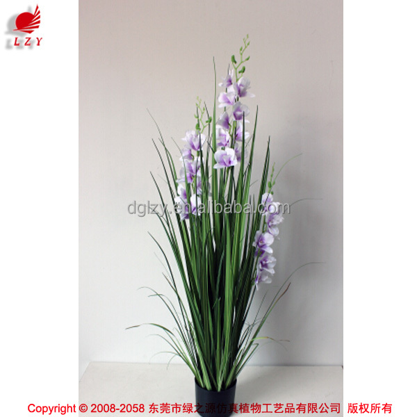 artificial onion grass and orchids for Christmas decoration artificial plant potted