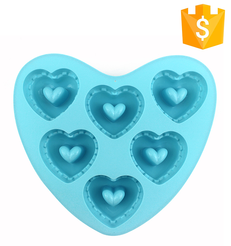 Wholesale food grade custom silicone heart-shaped mold baking microwave safe cake pan