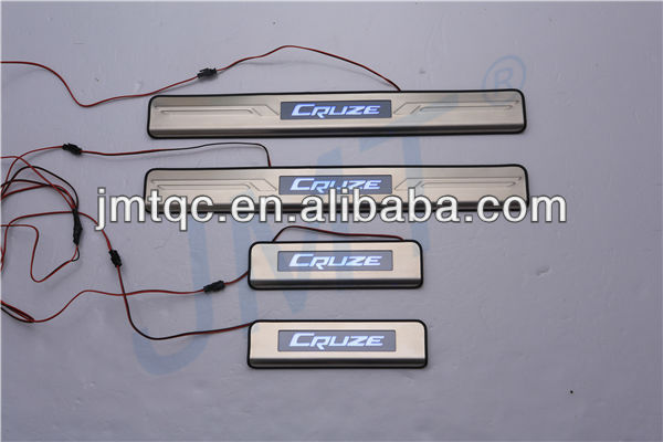 Top seller!!! door sill plate with led for chevrolet cruze