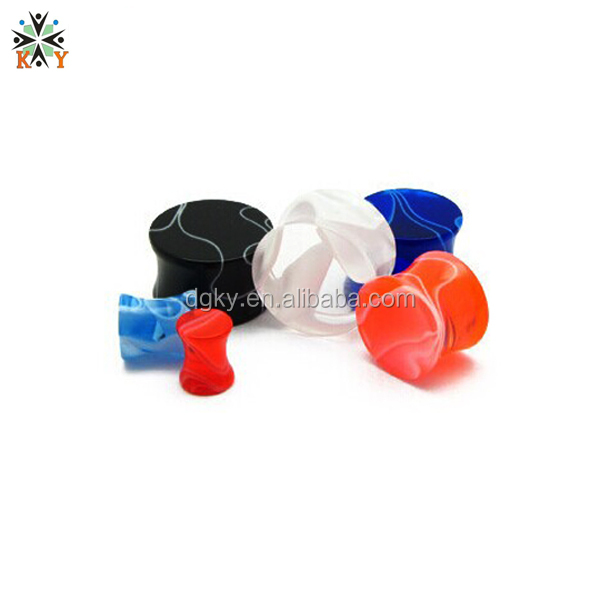 Acrylic line Ear Gauge non-mainstream ear tunnels free sample ear gauges
