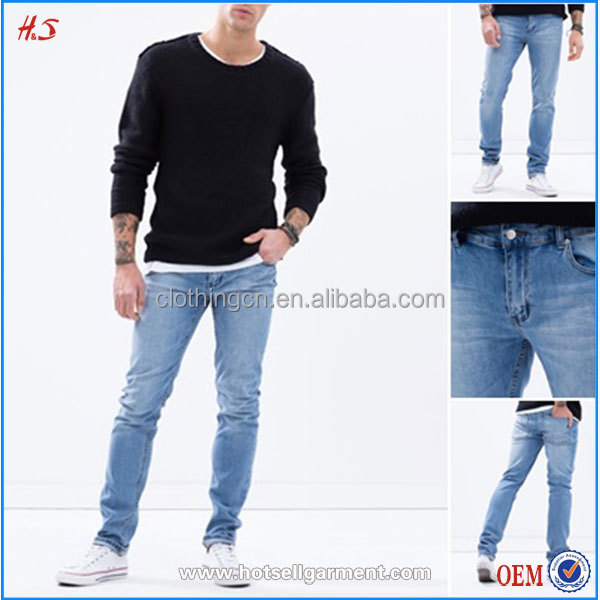 Wholesale Cheap New Style Jeans Pent Men Skinny Jean OEM Professional Customize Brand Jean