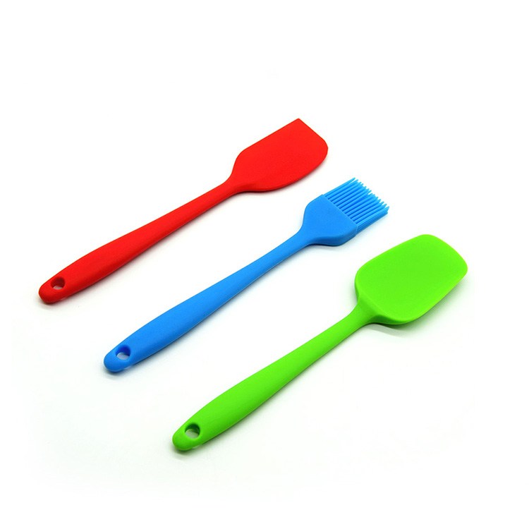 Kitchenware silicone kitchen utensils , FDA silicone brush spatula scraper cooking utensils