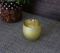 Weddings yellow color frosted candle holder tea Light Holder