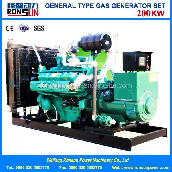 200kw natural gas/biogas generator set