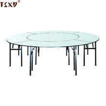 High quality 6ft round wedding banquet PVC folding dining tables