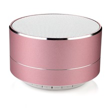 New arrivals 2018 metal mini portable wireless sound <strong>bluetooth</strong> <strong>speaker</strong> with Mic TF card FM radio AUX MP3 music play loudspeaker