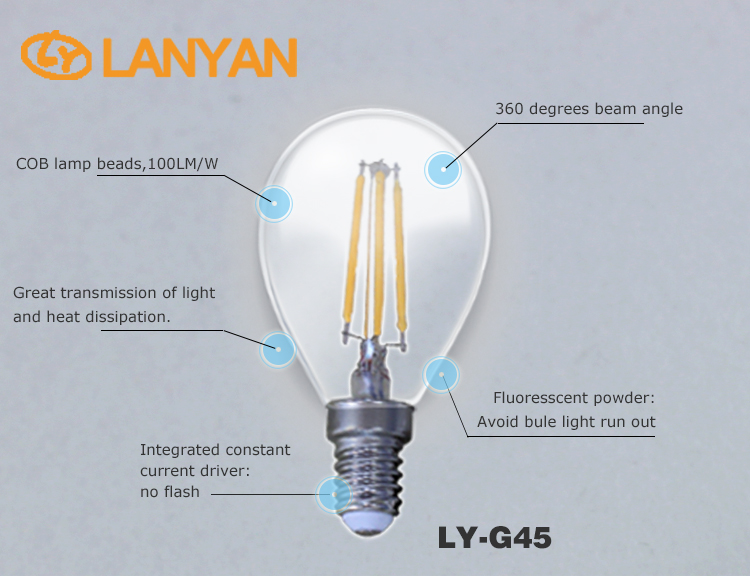 2016 most favorable price tungsten filament led bulbs e14 dimmable led bulbs 2700k 3200k