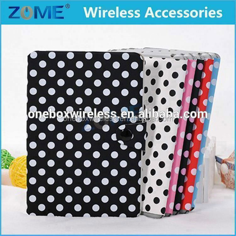 China Supplier Original Polka Dot Leather Tablets Case Leather Covers For iPad Mini 1