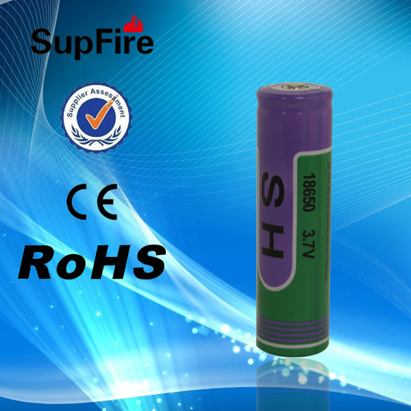 China SupFire 18650 with 3000mAh recharger lithium battery