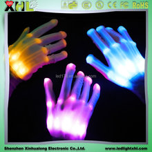 Wholesale optic fiber led Flashing glove Glow in the dark gloves