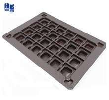 Plastic PET PVC PS PP candy blister insert tray packaging for tin box