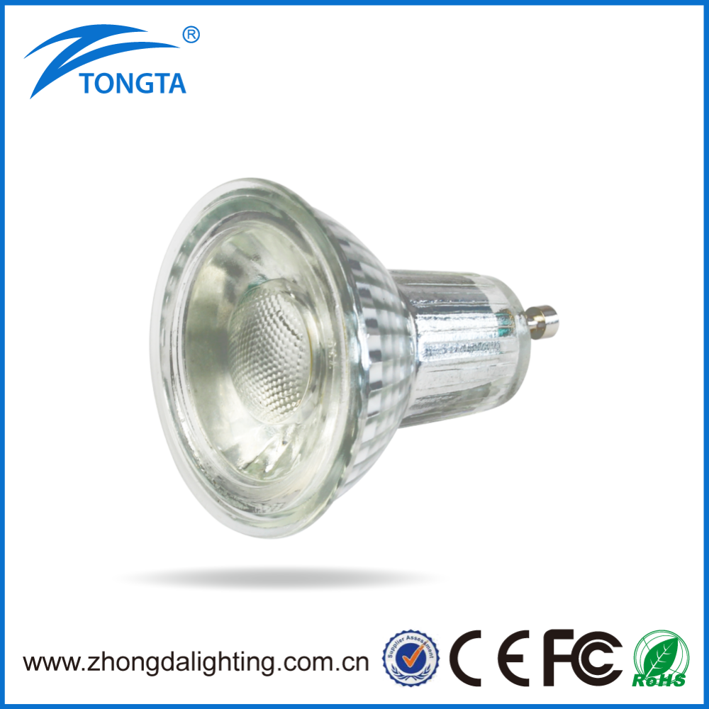 50W Halogen Replacement High Quality 5W GU10 LED Dimmable Spotlight