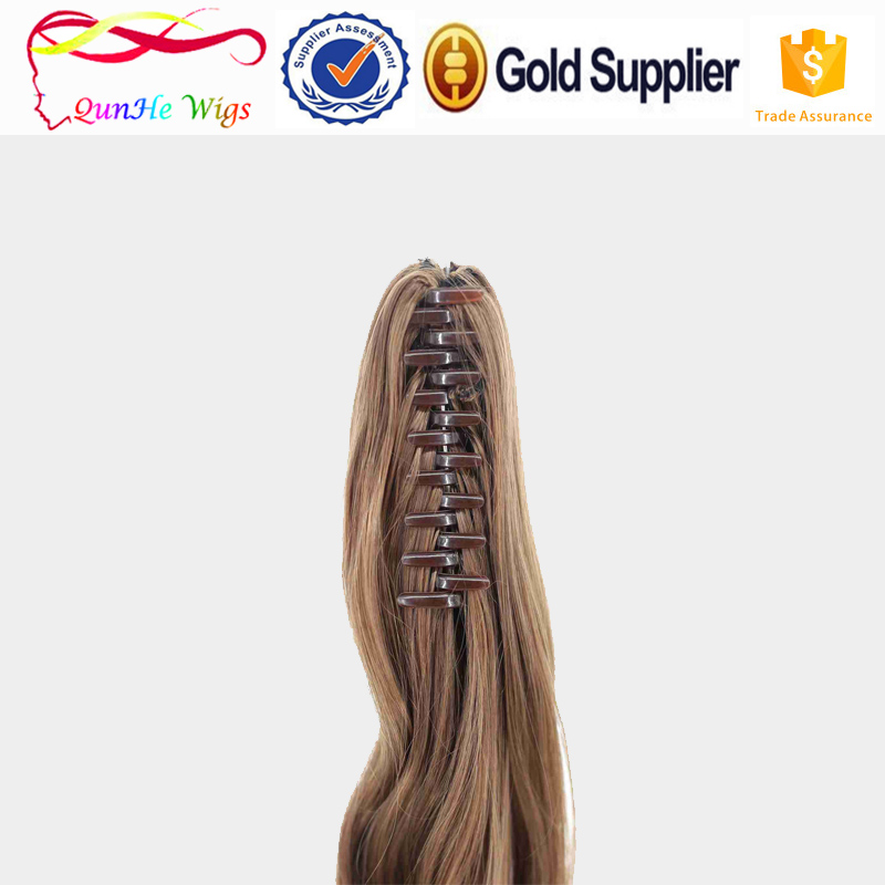 best synthetic hair curly weave claw clip ponytail extensions wigs accessories for women
