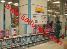 SAITU COMPANY automatic fire extinguisher filling machine / fire extinguisher production line