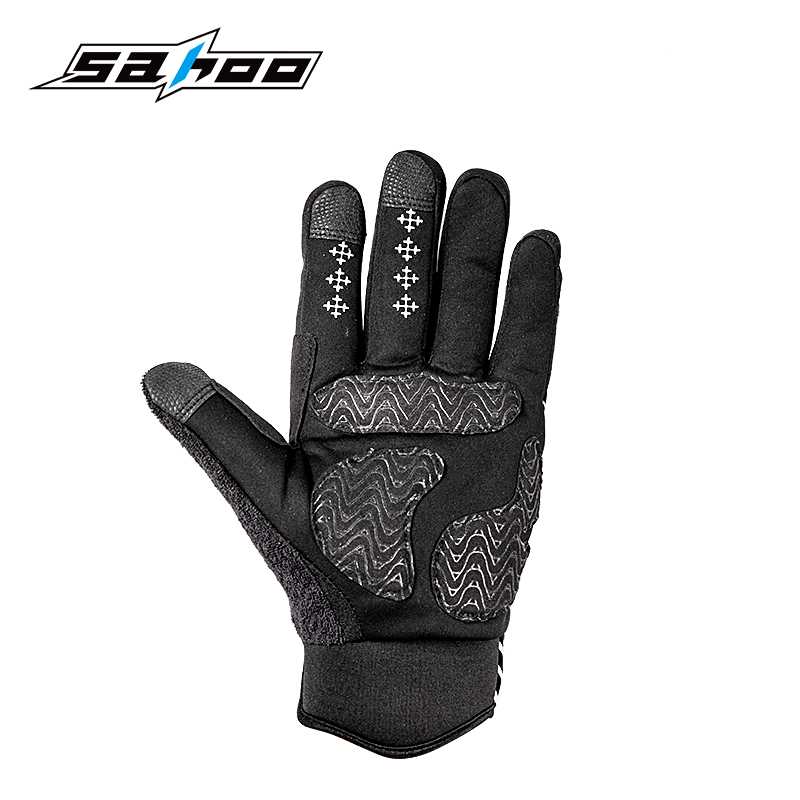 Sahoo Competitive Price and Rubber Padded 100g Full Finger Style Winter Cycling Gloves