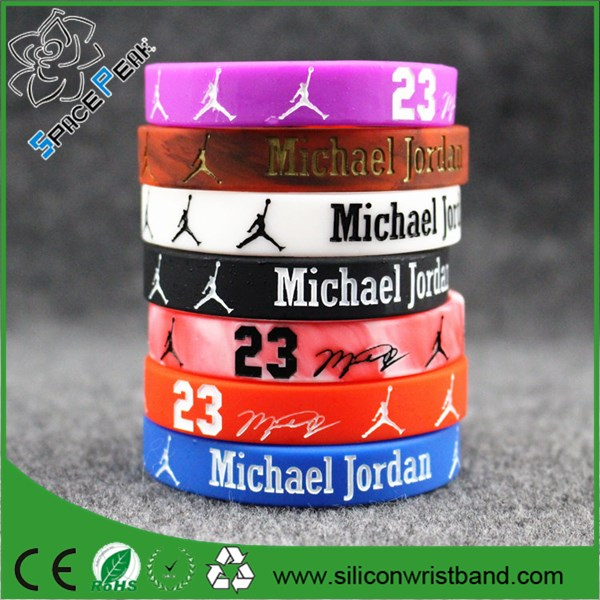 Rubber silicone bracelets with sayings.latex free silicone rubber jordan wristbands