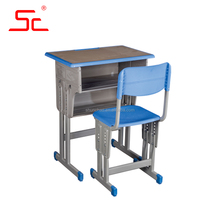 Adjustable single student desk and chairs for school sets