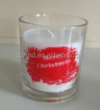 Glass cup candle