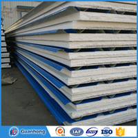 Smooth exterior hidden joint eps /pu/rock wool roof sandwich panel had made