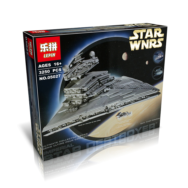 New LEPIN 05027 3250Pcs Wars Imperial Star Destroyer Model Building Kit Minifigure Blocks Bricks Compatible Toys 10030